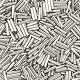 "1/16"" x 3/16"" (4mm) BUGLE BEADS: Transparent S/L"