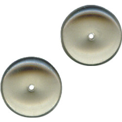 5x12mm Transparent Light Grey Pressed Glass RONDELL / DISC Beads