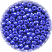 11/o Czech SEED BEADS - Striped, White on Blue