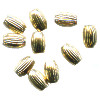 3x5mm 14kt Gold-Filled CORRUGATED OVAL / RICE Beads