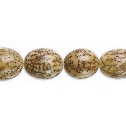10x15mm Natural Betelnut OVAL Beads