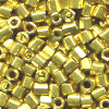 15/o HEX BEADS: Metallic Bright Gold