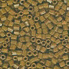 15/o HEX BEADS: Opaque Brown