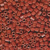 15/o HEX BEADS: Burnt Orange Painted