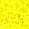 15/o HEX BEADS: Butter Yellow Painted