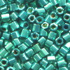 15/o HEX BEADS: Metallic Aqua