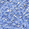 15/o HEX BEADS: Periwinkle Blue Luster