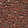15/o HEX BEADS: Rusty Brown Painted