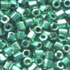 15/o HEX BEADS: Metallic Teal