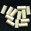 6x13mm Bone White Acrylic TUBE Beads