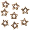 1x10mm Antiqued Copper Bali Style DISC / SPACER Beads