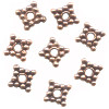 1x12mm Antiqued Copper Bali Style DISC / SPACER Beads
