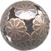 20mm Antiqued Copper Cut-Out Floral ROUND Focal Bead
