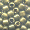 6x6mm Antiqued (Patina) Hollow Brass *Old Style* French CYLINDER / ROLLER Beads