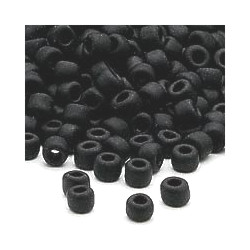 "4mm Black Matte Czech Glass ""E"" BEADS (Rocaille)"