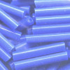 "Vintage CZECH 3/4""  (4x19mm) Thick BUGLE / GLASS ""WAMPUM"" Beads: Opaque Medium Blue"