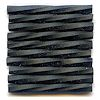 "CZECH #25  1""  (2x25mm) *Twisted* BUGLE BEADS: Opaque Black Matte"