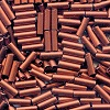 CZECH PRECIOSA® #3 (2x6.5mm) BUGLE BEADS: Copper Metallic Satin (Matte) #01750