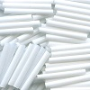 Japanese 2x15mm BUGLE BEADS: Opaque White Satin