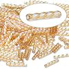 MATSUNO DYNA-MITES® #4 (2x12mm) *Twisted* BUGLE BEADS: Transparent Light Gold Rainbow