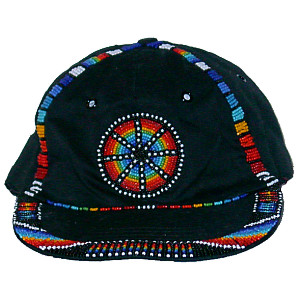 Beaded Ball Cap ~ Black