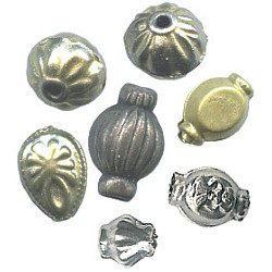 9mm to 19mm Hand Cast Stamped Brass Bead Assortment