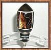 Gaboon Ebony, Holly & Marbled Celluloid Stainless Steel Wine Bottle Stopper ~ JBC Woodcraft®