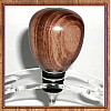 Exotic Goncalo Alves (Tigerwood) Stainless Steel Wine Bottle Stopper ~ JBC Woodcraft®