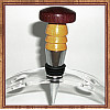 Purpleheart & Yellowheart Chrome Finish Wine Bottle Stopper ~ JBC Woodcraft®
