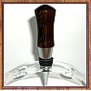Exotic Wenge Chrome Finish Wine Bottle Stopper ~ JBC Woodcraft®