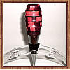 Purpleheart & Pink Ivory Wood Chrome Finish Wine Bottle Stopper ~ JBC Woodcraft®