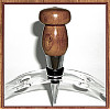 Cherry Wood Chrome Finish Wine Bottle Stopper ~ JBC Woodcraft®
