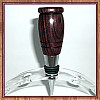 Kingwood & Claro Walnut Chrome Finish Wine Bottle Stopper ~ JBC Woodcraft®