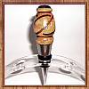 Segmented Yellowheart, Walnut & Genuine Tigereye Chrome Finish Wine Bottle Stopper ~ JBC Woodcraft®