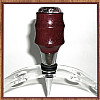 Purpleheart & Rhodonite Chrome Finish Wine Bottle Stopper ~  JBC Woodcraft®
