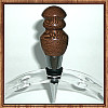 Exotic Leopardwood Chrome Finish Wine Bottle Stopper ~ JBC Woodcraft®