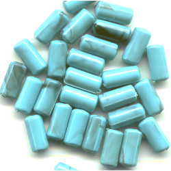 4x8mm Block Turquoise (Simulated) TUBE Beads