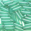2mm x 6mm BUGLE BEADS: Trans. Dusty Sea Breeze, Color Lined