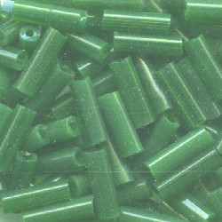 "1/16"" x 1/4"" (7mm) BUGLE BEADS: Transl. Cream De Mint"