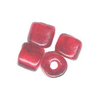 7mm to 8mm Transparent Red *Old Style* French Glass CROW Beads