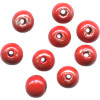 6mm Hand Painted Red Ceramic ROUND Spacer Beads