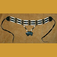 Genuine Bone & Horn *Buffalo* Hairpipe Choker