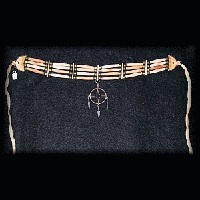 "Genuine Bone & Brass *Medicine Wheel"" Hairpipe Choker"