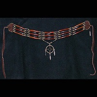 "Genuine Brown & Black Horn *Medicine Wheel"" Hairpipe Choker"