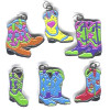 Enameled Metal WESTERN BOOTS Charm Set