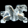 20mm Crystal Rock Quartz 3-D PEGASUS Bead