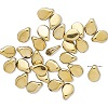 5x7mm Opaque Metallic Light Gold Czech Pressed Glass PIP (Drop) Beads