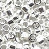 DB0551V: 11/o MIYUKI DELICA BEADS - Bright Sterling Silver Plated