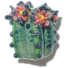 20x23mm Lampwork Glass *Desert Charmer* Sculpted CACTUS Focal Bead ~ Carolyn Driver