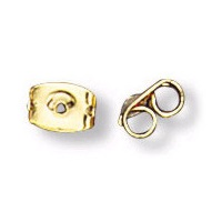 11mm Gold Plated Stainless Steel EARRING CLUTCH / EARNUTS / BACKINGS